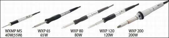 接続可能なハンダゴテ:WXMP-MS (40W,55W)/WXP65(65W)/WXP80(80W)/WXP120(120W)/WXP200(200W)